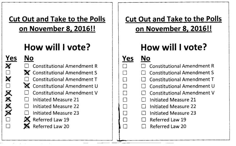 2016 vote template