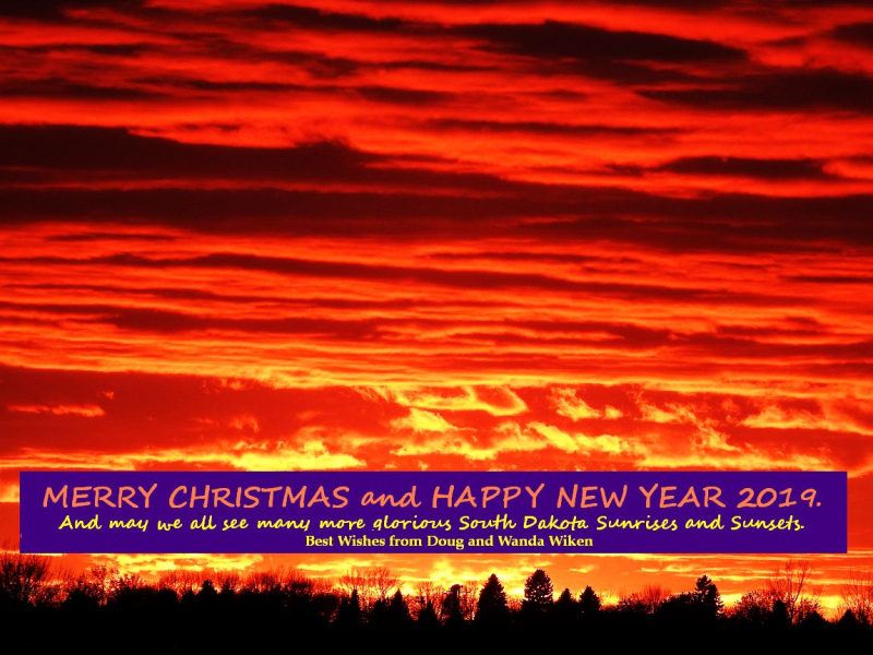Sunset for Christmas Card With text 2018