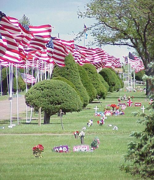 Memorial Day Flags2004